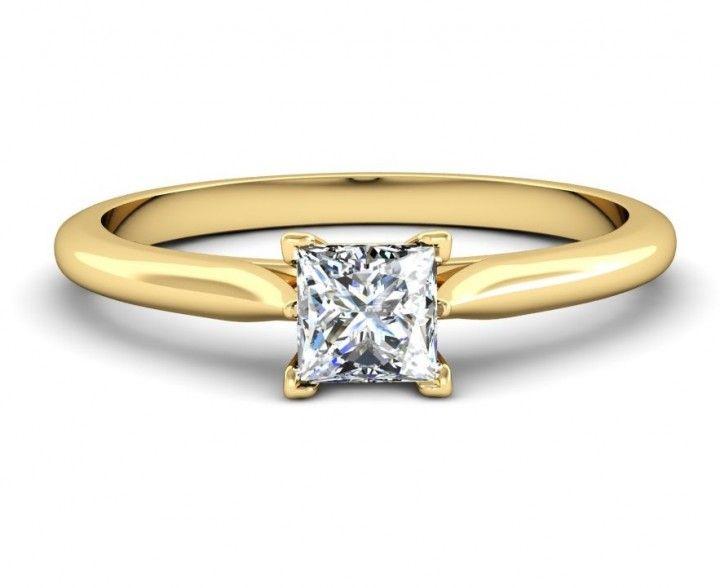 #Princess #Diamantring in #Gelbgold von #VERLOBUNGRING.de