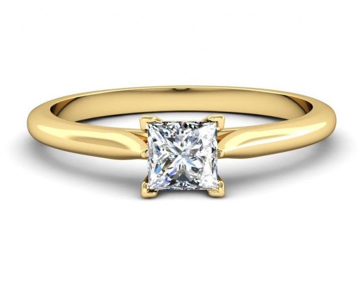 #Princess #Diamantring in #Gelbgold von #VERLOBUNGRING.de