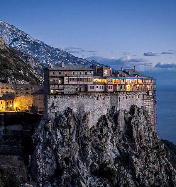 Monastery of Simonos Petras, Mount Athos, Greece