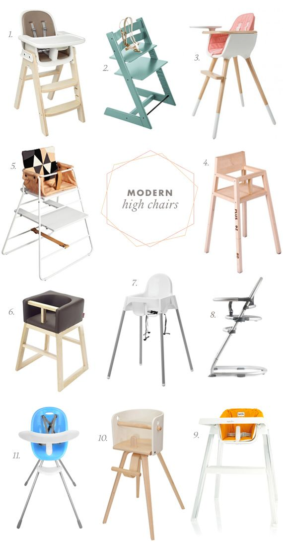 Our favorite modern high chairs
