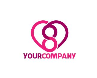 LOGO LOVE8 Logo design - this logo for social media with love and 8  Price $125.00