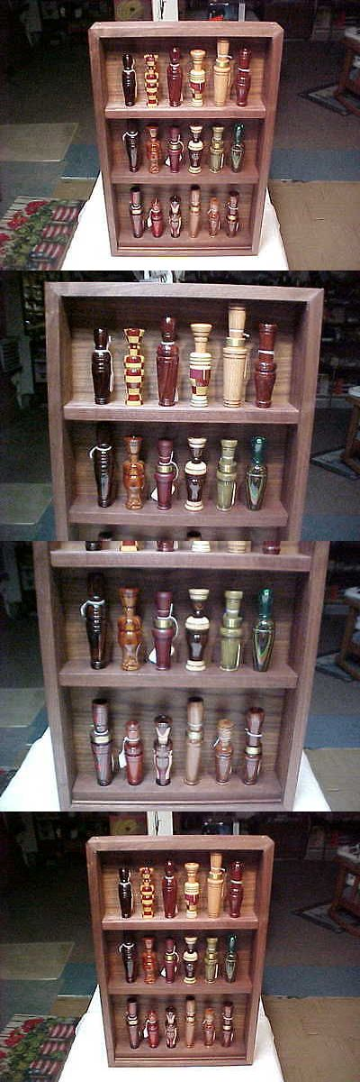Game Calls 36252: Custom Made 18 Duck And Goose Call Display Stand Cabinet Walnut Wood 3 Shelves -> BUY IT NOW ONLY: $80 on eBay!
