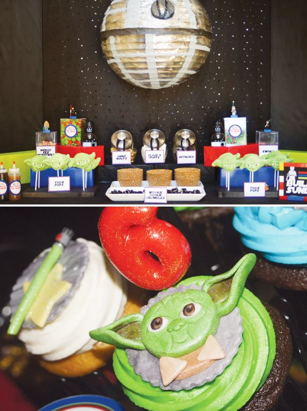 Star Wars Lego Party {with a build your own ice cream bar}. Jenna this would be great for Justin.