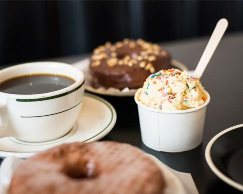 Doughnuts + cookie dough = dream situation.