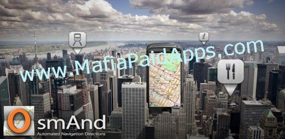 Maps & Navigation  OsmAnd v2.4.6 Apk   OsmAnd (OSM Automated Navigation Directions) is a map and navigation application with access to the free worldwide and high-quality OpenStreetMap (OSM) data.Enjoy voice and optical navigation viewing POIs (points of interest) creating and managing GPX tracks using contour lines visualization and altitude info a choice between driving cycling pedestrian modes OSM editing and much more. OsmAnd is the paid application version. By buying it you support the…