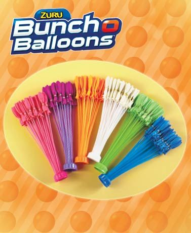 Prepare for an epic water balloon fight in minutes with this 2-pack Bunch O Balloons Water Balloons. Each pack contains 3 hose attachments, each with 35 pre-con