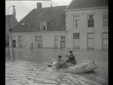 Eerste beelden van de Stormramp (1953)