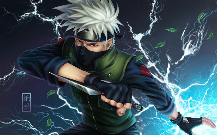 Download wallpapers Kakashi Hatake, manga, shinobi, Konohagakures Hatake clan, Naruto