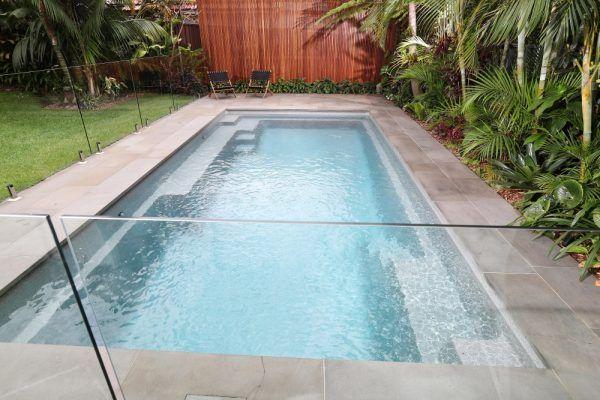 Serene 7 Grey Quartz Swimming Pool Design Narellan Pools Nz Lap Pools Backyard Backyard Pool Designs Pool Designs