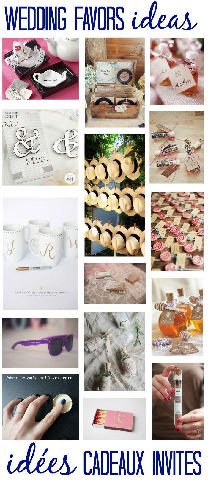 WEDDING FAVOR IDEAS - Idées cadeaux pour les invités de votre mariage, des cadeaux personalisés #Mariage #WeddingIdeas