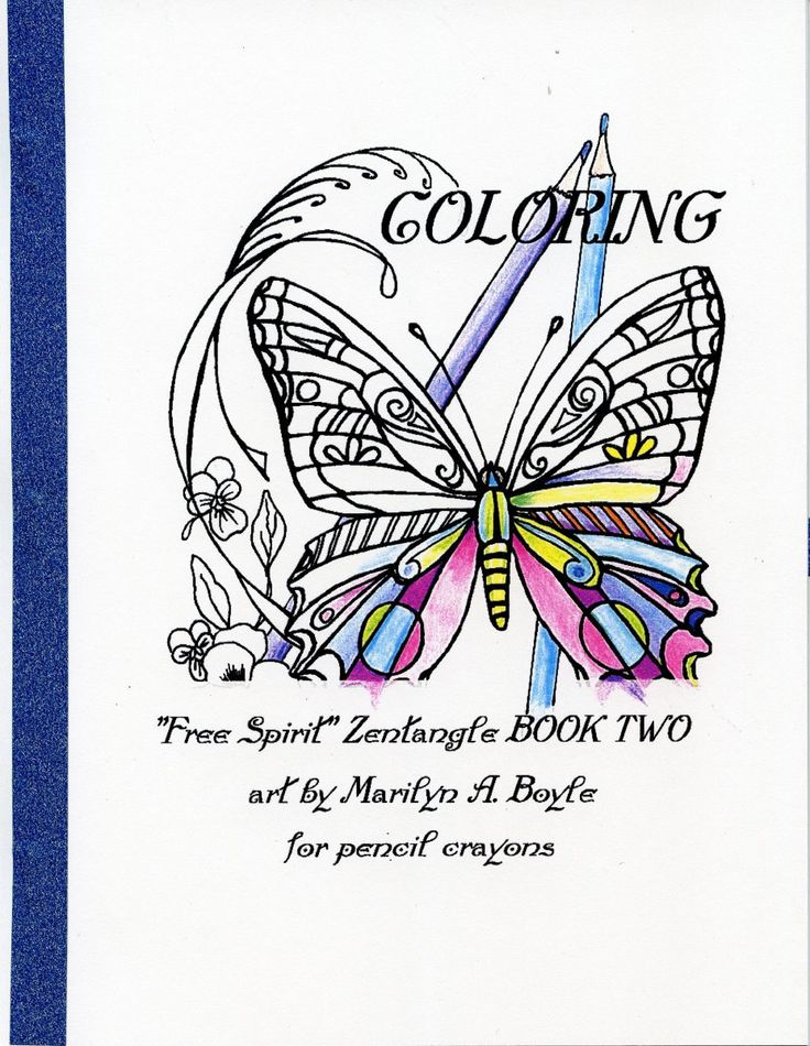ADULT COLORING BOOK 10 Pages Zentangle For Pencil Crayons Cats Owls