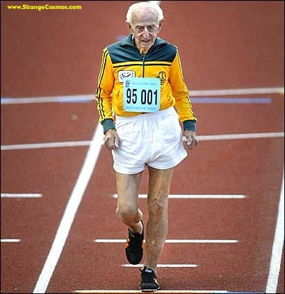 99 year old sprinter from Senior Olympics Austrailia