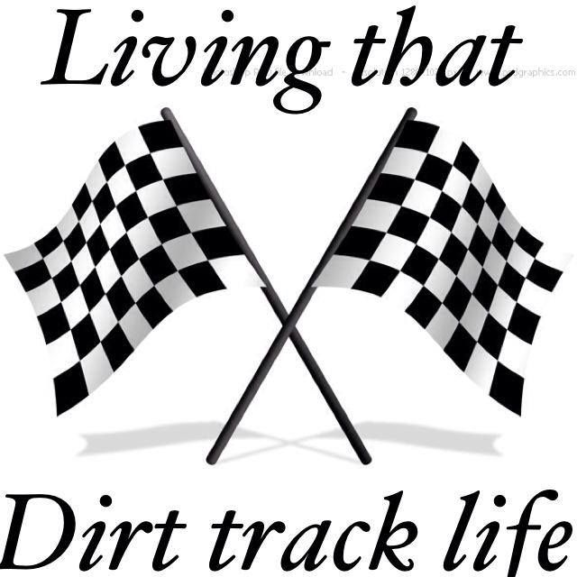 available in several vinyl colors Living That Dirt Track LIfe Sticker
