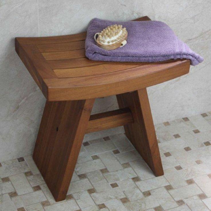 126 best Bathroom images on Pinterest   Shower bench teak, Shower ...