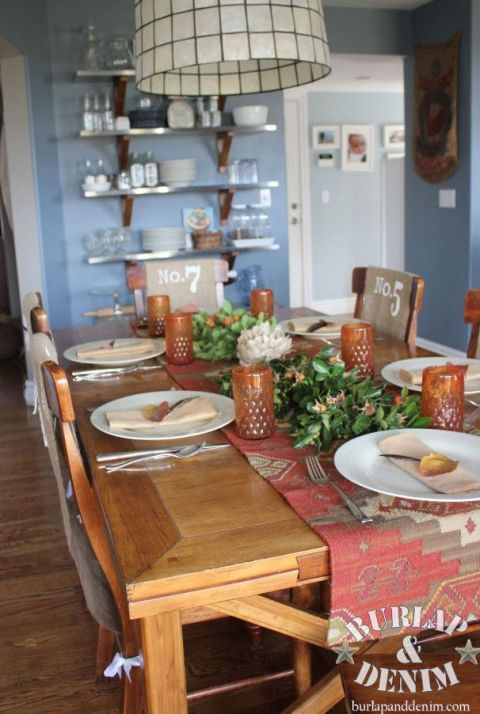 17 best images about thanksgiving table settings on for Dining room decorating ideas for thanksgiving