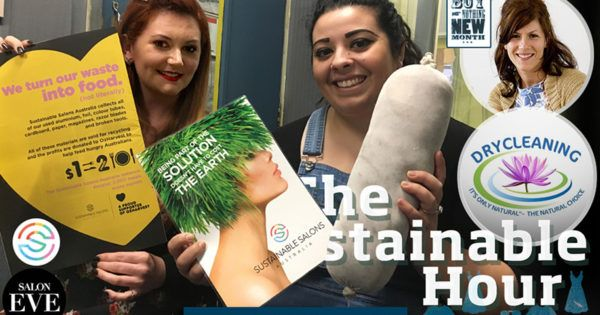 When zero waste makes business better  Our guests in the Sustainable Studio on 13 September 2017 are Barbara Ferrante, owner ofSalon Evein Geelong, andKrystinaBirch,Sustainable Salons Australia's Victorian representative. We visitGayle EnglishandPhil Slocombe atIt's Only Natural, an eco-friendly dry cleaning shop in Yarraville. And over the phone we talk withTamara DiMattina aboutBuy Nothing New Monthin October.