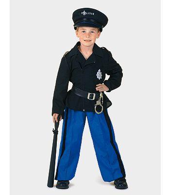 Politie pak voor kinderen bestaande uit een zwart jasje met ceintuur en een blauwe broek. Politie accessoires kunt u los bijkopen in deze shop. Carnavalskleding 2015 #carnaval