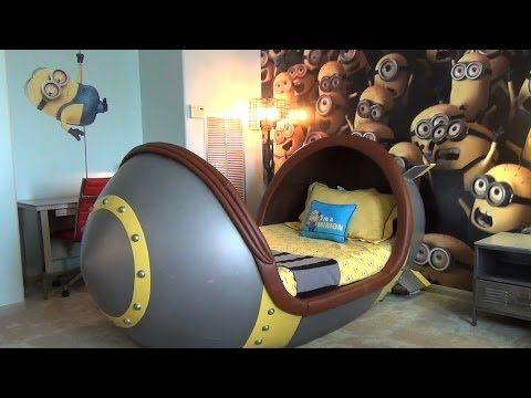 Minion Suite Detailed Tour at Loews Portofino Bay Hotel, Universal Orlando w/ Missile Beds - YouTube