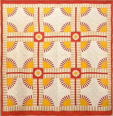 Rocky Mountain Road quilt, c. 1875, collection of Bill Volkening