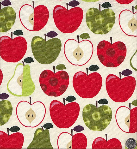 Hoodie's Apples and Pears by Timeless Treasures