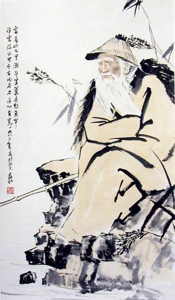 painter 蔣兆和(1904~1986)《漁翁圖》