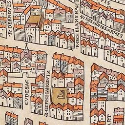 Map of Paris Circa 1550 | Old Maps of Paris