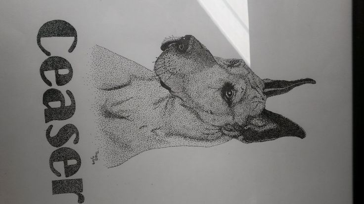 Pointillism of my gentle giant - by Thea Loots