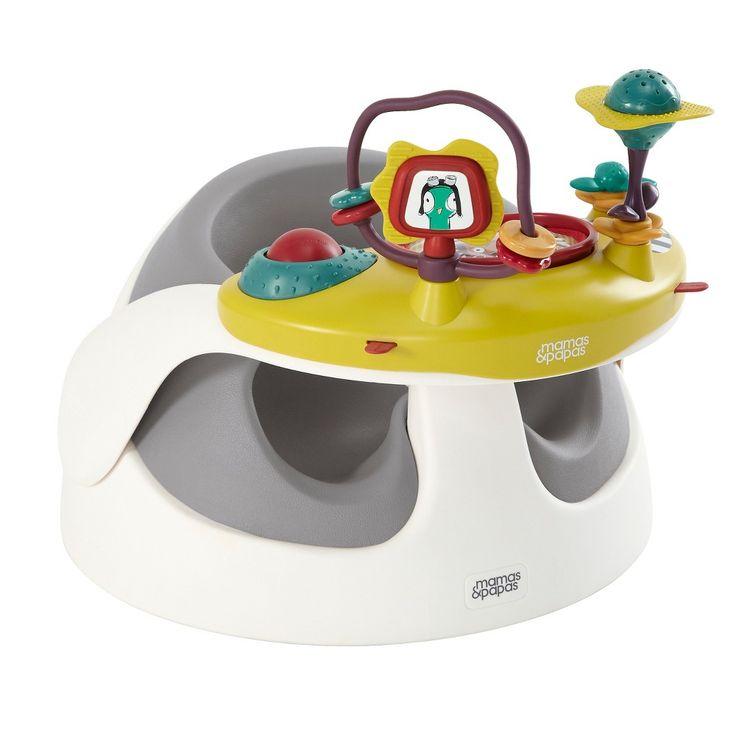 Mamas & Papas Baby Snug & Activity Tray Infant Positioning Seat - Grey, Soft Grey