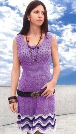 Вяжем спицами летнее платье