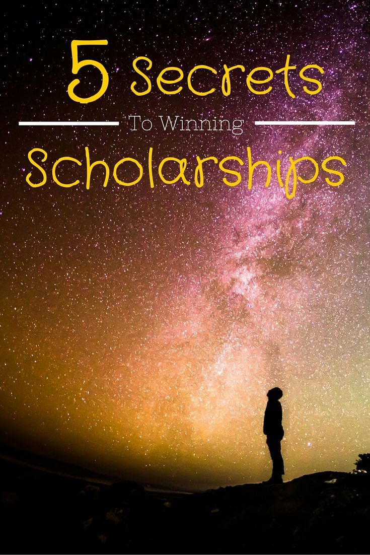 5 secrets to winning a college scholarship