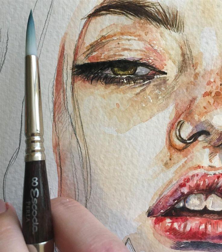 Простите, что сегодня одни кусочки #детали #процесс #рисунок #живопись #акварель #арт #drawing #painting #watercolor #aquarelle #details