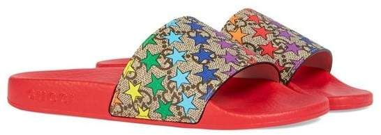 18999dbb463 Gucci Kids Children s GG rainbow star slide sandal