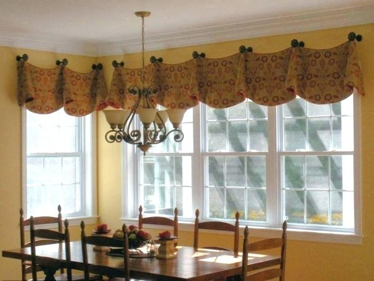 Curtains bay window treatment ideas for kitchens