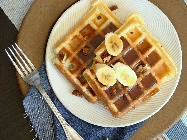 Tried it 5* Banana Nut Waffles - Light and Delicious - can use almond ...