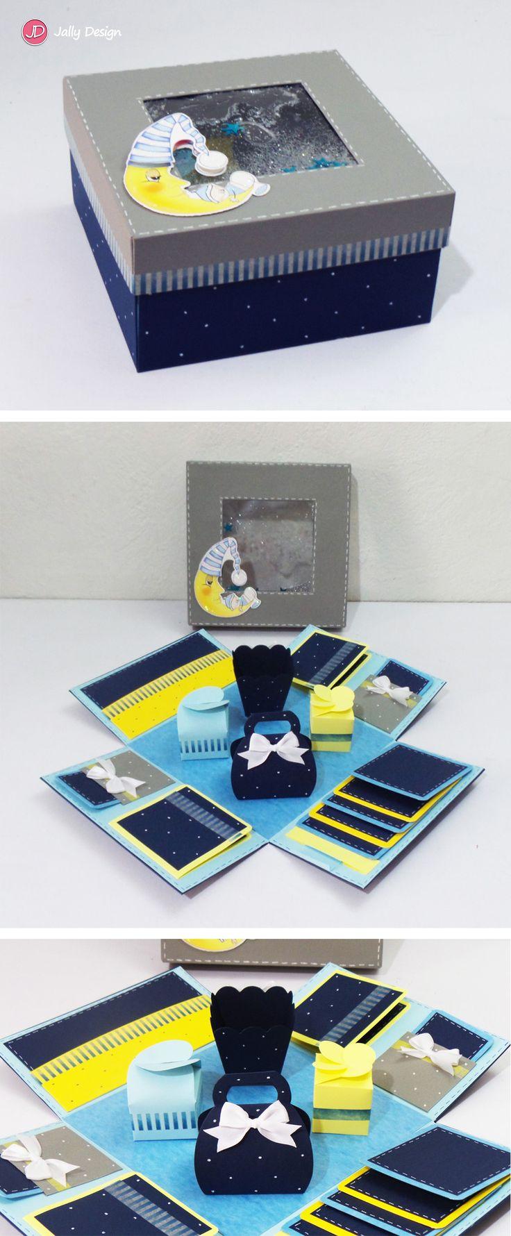 Caja scrapbook para un bebé
