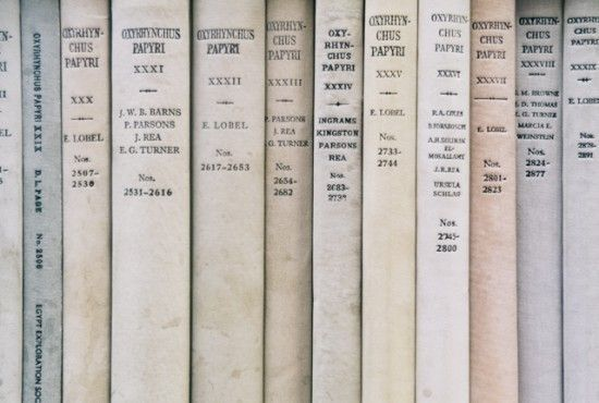 Dusty colors of book spines. I love the simplicity of this with the slight contrast in colors
