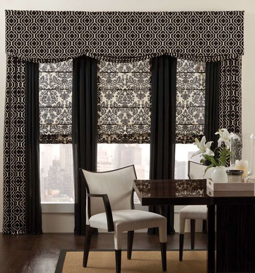 Designer Roman Shades: Patterns | The shape, Colors and ...