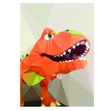Geometric dinosaur art print - hardtofind. If only I saw this earlier - one for Lucas.