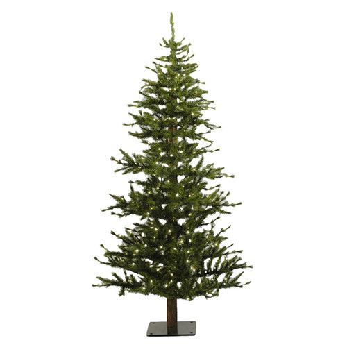 Vickerman Co. Minnesota Pine 6' Green Artificial Half Christmas Tree with 200 Clear Lights with Stand $171.00 makes a 7ft. one too...