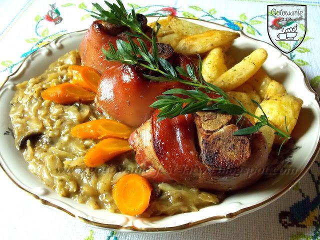 Gotowanie jest łatwe: Golonki peklowane, kapusta z grzybami i pieczone z...