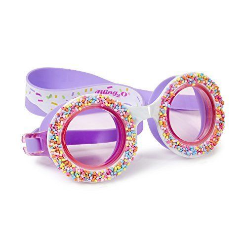 Swimming Goggles For Girls - Do 'Nuts' 4 U Kids Swim Goggles By Bling2o (Grape Jelly):   Are you ready to ditch the boring old goggles and liven up your swim gear? Bling2o Do 'Nuts' 4 U swim goggles are a seriously sweet way to change up your poolside look! Swimsuits are no longer the only way for a swimmer to express her style. Bling2o girls swim goggles are the freshest idea to hit the pool since the water slide, bringing fit, function, and serious fun! Our chic girls swimming goggle...