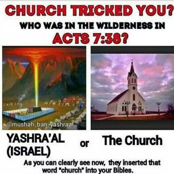 YiriYah of Israel - wow! For all those KJV only folks, here's another major error. ( they also call Passover by a man-made holiday, Easter)