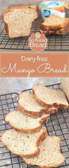 Whole Wheat Mango Br Whole Wheat Mango Bread is Very Easy to Make. Used Dairy Free Yogurt to make this Very Soft and Moist Bread. Turn Ripe Mangoes into Pulp and This Bread Will Have an Amazing Aroma | Dairy-free baking dairy-free bread no-knead bread homemade bread whole wheat recipes #ad #DairyFreeGoodness Recipe : http://ift.tt/1hGiZgA And @ItsNutella  http://ift.tt/2v8iUYW  Whole Wheat Mango Br Whole Wheat Mango Bread is Very Easy to...
