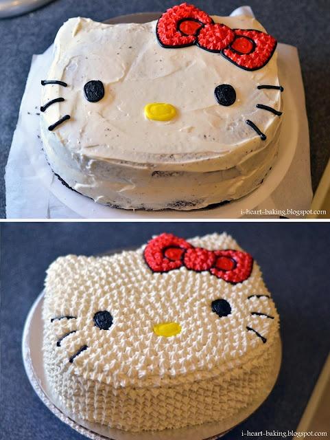 i heart baking!: hello kitty shaped cake