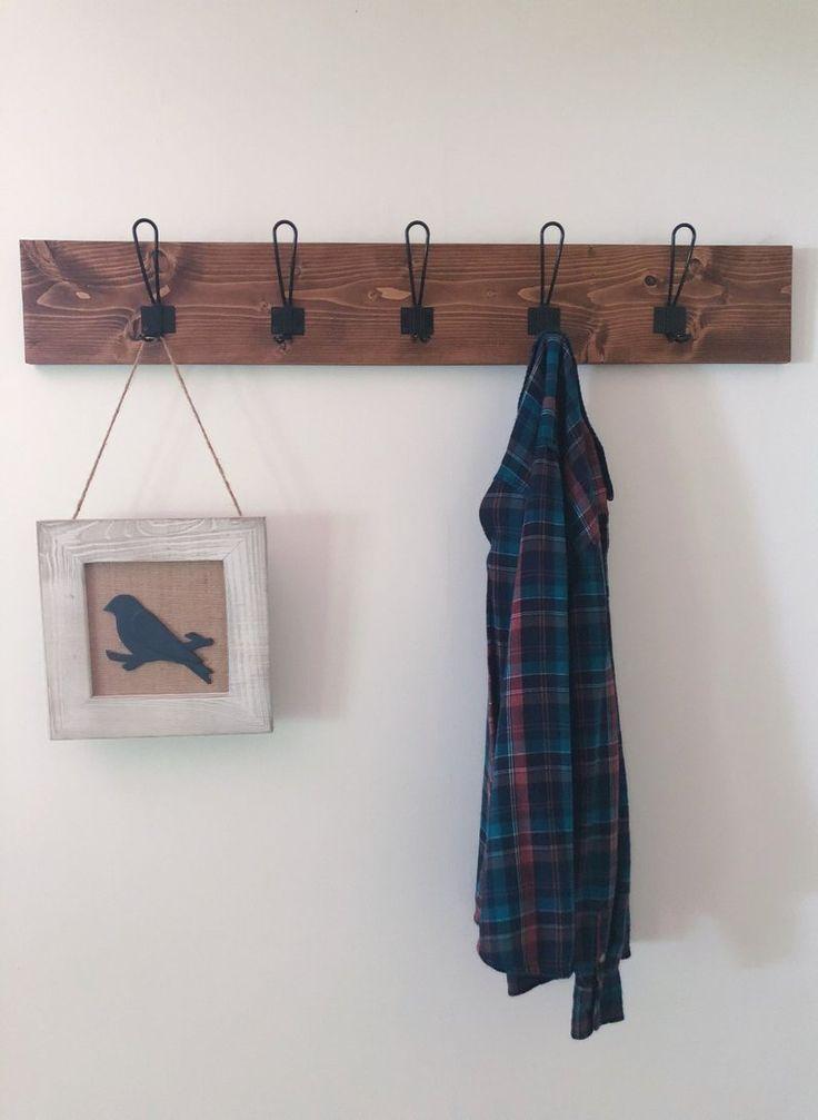 Farmhouse style coat rack wall mounted coat rack rustic