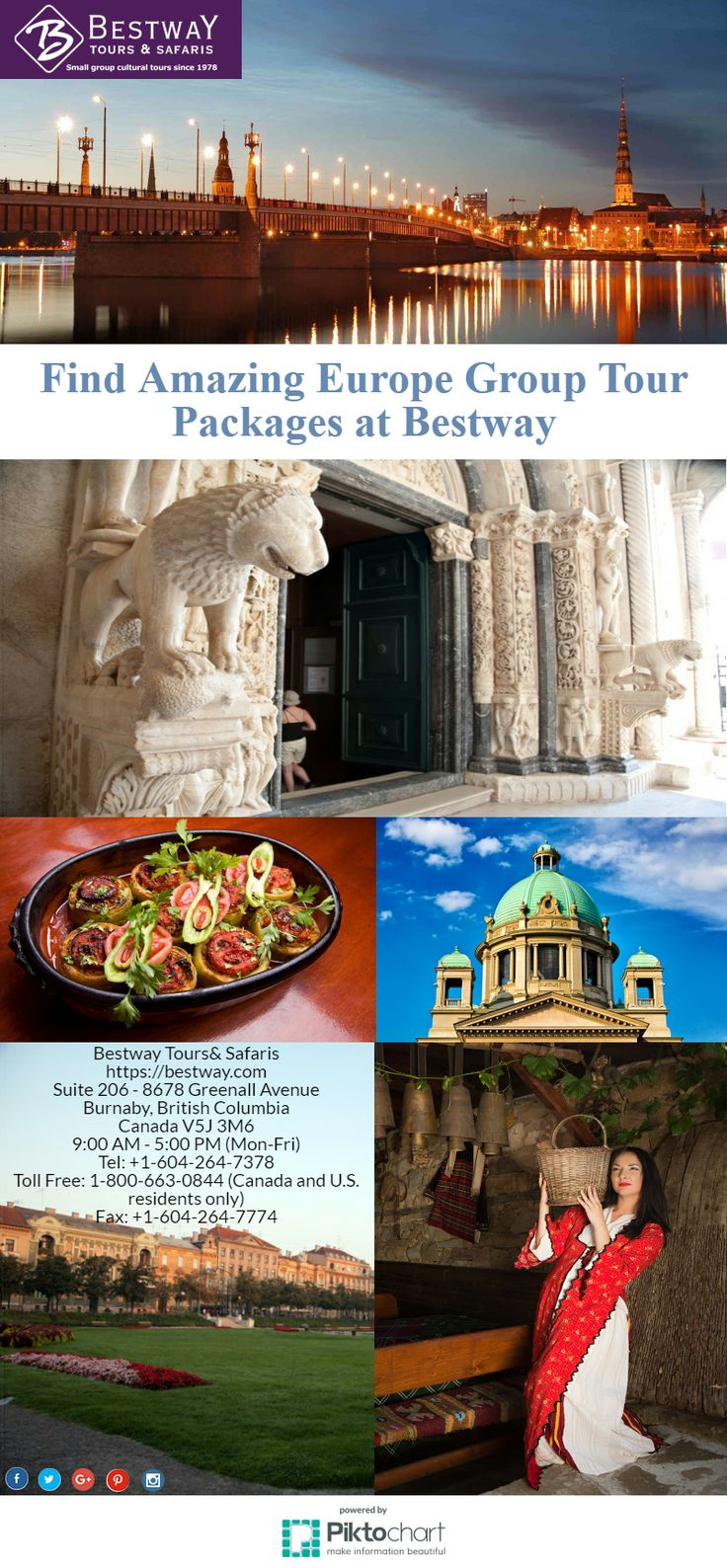 Find Amazing Europe Group Tour Packages at Bestway  Bestway Tours & Safaris offers modern day grand tour packages of Europe is facilitated by an inexpensive airline infrastructure and some of the best train journey in the world. See for yourself and enjoy on one of our Europe tours.