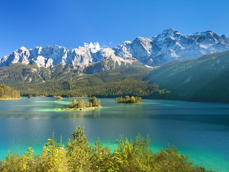 Lakeview Eibsee and Zugspitze, Germany