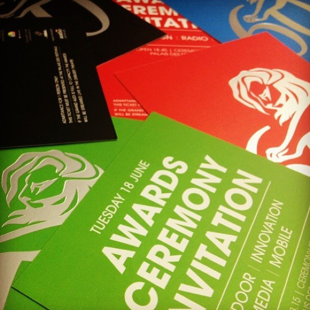 Awards ceremony invites.... #CannesLions