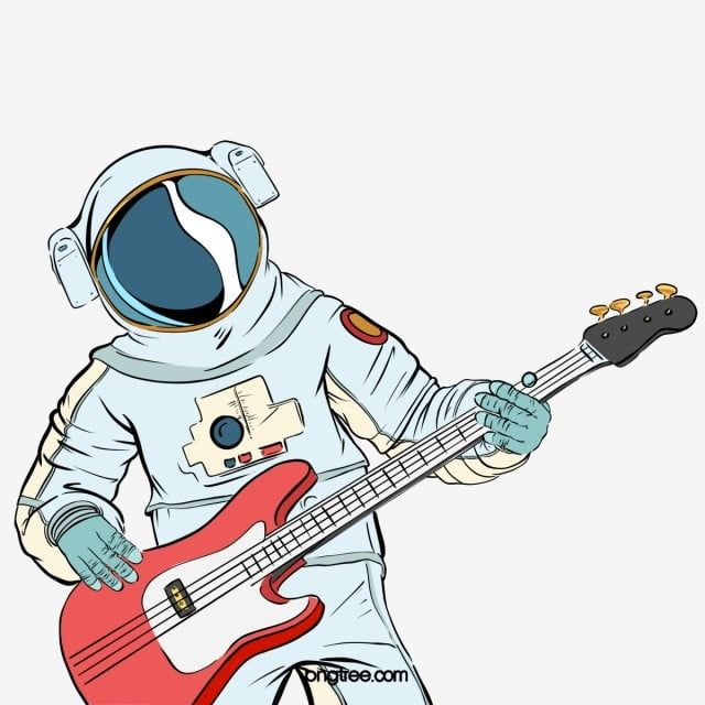 Astronaut Illustration Pop Spoof Playing Guitar Illustration Elements Astronaut Illustration Play The Guitar Png Transparent Clipart Image And Psd File For F Astronaut Illustration Guitar Illustration Cute Little Drawings