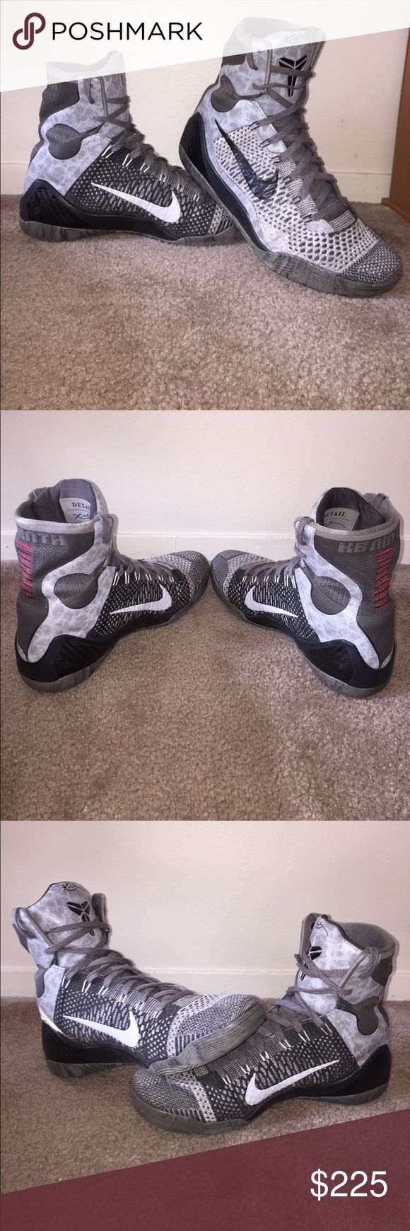 Kobe 9 Elite Size 10 (black,grey) Nike Shoes Sneakers